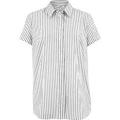 Bluzka, krótki rękaw bonprix biało-szary w paski. Białe bralety bonprix, w paski, z krótkim rękawem. Za 37,99 zł.
