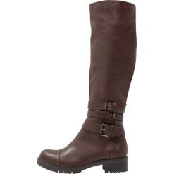 Anna Field Kowbojki i Buty motocyklowe dark brown. Brązowe buty zimowe damskie marki Anna Field, z materiału. W wyprzedaży za 149,40 zł.