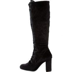Dorothy Perkins KAKE Kozaki sznurowane black. Czarne buty zimowe damskie Dorothy Perkins, z materiału. W wyprzedaży za 271,20 zł.