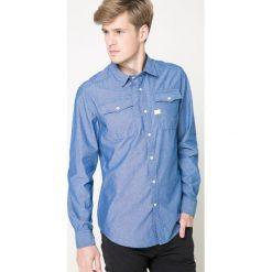 G-Star Raw - Koszula. Niebieskie koszule męskie na spinki marki G-Star RAW, l, z bawełny, z klasycznym kołnierzykiem, z długim rękawem. W wyprzedaży za 219,90 zł.