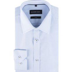 Koszula SIMONE slim KDWS000310. Niebieskie koszule męskie na spinki Giacomo Conti, m, z nadrukiem, z bawełny. Za 199,00 zł.
