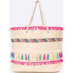 Answear - Torebka City Jungle. Szare torebki klasyczne damskie marki ANSWEAR, z materiału, duże. W wyprzedaży za 49,90 zł.