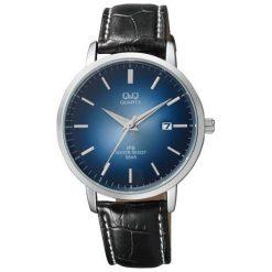 Zegarek Q&Q Męski Klasyczny  QZ06-302 Silver & Blue. Niebieskie zegarki męskie Q&Q. Za 185,18 zł.