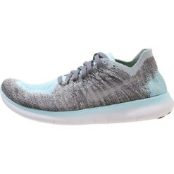 Nike Performance FREE RUN FLYKNIT 2  Obuwie do biegania neutralne metallic silver/reflective silver/cool grey/dark grey/glacier ice. Niebieskie buty do biegania damskie Nike Performance, z materiału. W wyprzedaży za 375,20 zł.
