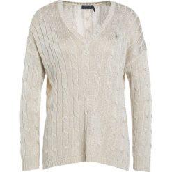 Swetry klasyczne damskie: Polo Ralph Lauren Sweter metallic taupe