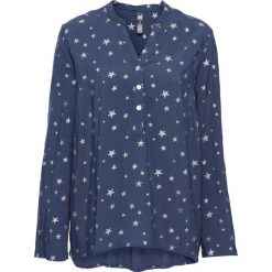 Bluzki damskie: Bluzka w połyskujące gwiazdy bonprix indygo-srebrny z nadrukiem