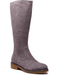 Oficerki SERGIO BARDI - Baselga FW127368918GM 809. Szare buty zimowe damskie Sergio Bardi, ze skóry, przed kolano, na wysokim obcasie, na obcasie. Za 379,00 zł.
