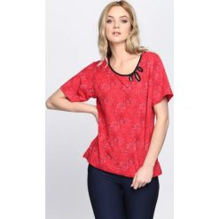 Bluzki damskie: Czerwony T-shirt Try Again