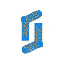 Skarpetki Happy Socks - Vitamins (CAR01-6000). Szare skarpetki męskie marki Happy Socks, w kolorowe wzory, z bawełny. Za 34,90 zł.