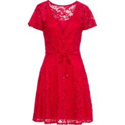 Sukienki: Sukienka koronkowa bonprix czerwony