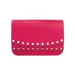 Torebki klasyczne damskie: Skórzana torebka w kolorze fuksji – (S)23 x (W)15 x (G)8 cm
