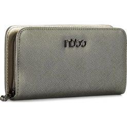 Duży Portfel Damski NOBO - NPUR-D0140-C019 Srebrny. Szare portfele damskie Nobo, ze skóry ekologicznej. W wyprzedaży za 89,00 zł.