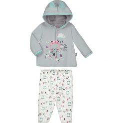 Spodnie niemowlęce: 2-częściowy zestaw w kolorze szaro-białym