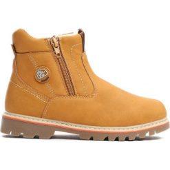 Camelowe Traperki City Park. Brązowe buty zimowe chłopięce Born2be, z materiału, z okrągłym noskiem, na zamek. Za 69,99 zł.