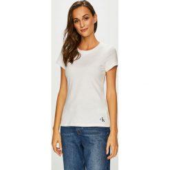 Calvin Klein Jeans - Top. Szare topy damskie marki Calvin Klein Jeans, l, z dzianiny, z okrągłym kołnierzem. Za 119,90 zł.