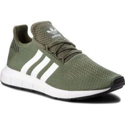 Buty adidas - Swift Run W AQ0866 Basgrn/Ftwwht/Cblack. Niebieskie buty sportowe damskie marki Salomon, z gore-texu, na sznurówki, do biegania, gore-tex. W wyprzedaży za 269,00 zł.
