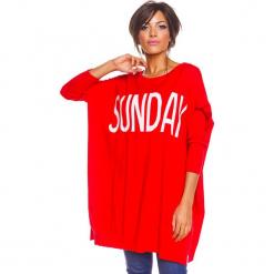 """Sweter """"Lisa"""" w kolorze czerwonym. Czerwone swetry oversize damskie marki So Cachemire, s. W wyprzedaży za 173,95 zł."""
