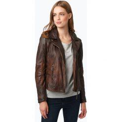 Kurtki damskie: Gipsy – Damska kurtka skórzana – Chelsey, brązowy