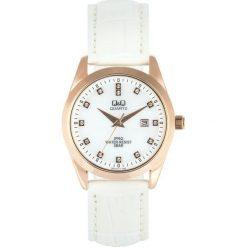 Zegarek Q&Q Damski QZ13-111 Klasyczny Cyrkonie biały. Białe zegarki damskie Q&Q. Za 127,80 zł.