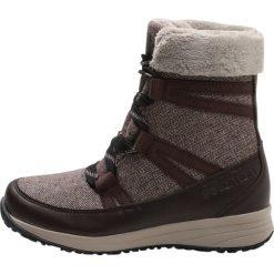 Salomon HEIKA Śniegowce black coffee/cinder/black. Brązowe buty zimowe damskie Salomon, z gumy. W wyprzedaży za 395,40 zł.