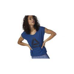 T-shirty z krótkim rękawem Reebok Sport  Koszulka Workout Ready Supremium 2.0. Niebieskie bluzki sportowe damskie Reebok Sport, m, z krótkim rękawem. Za 99,95 zł.