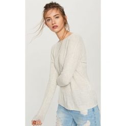 Sweter z lekkiej dzianiny - Jasny szar. Szare swetry klasyczne damskie Reserved, l, z dzianiny. Za 59,99 zł.