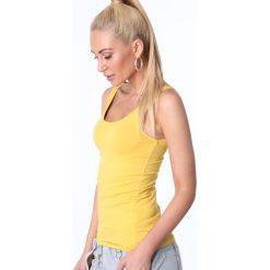 Koszulka na ramiączka żółta MP14881. Żółte bluzki damskie Fasardi, l. Za 29,00 zł.