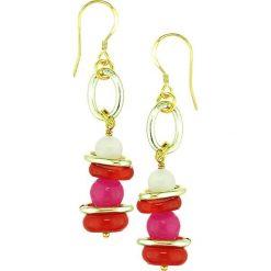 Kolczyki damskie: Kolczyki z perłami i agatem