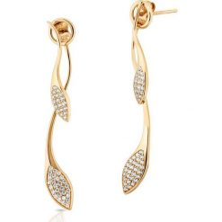Biżuteria i zegarki: RABAT Złote Kolczyki – złoto żółte 585, Cyrkonia