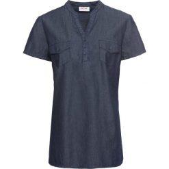Tunika dżinsowa, krótki rękaw bonprix ciemnoniebieski. Czarne tuniki damskie marki DOMYOS, z bawełny, street. Za 74,99 zł.