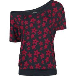Bluzki asymetryczne: RED by EMP Edged Out Koszulka damska czarny/czerwony