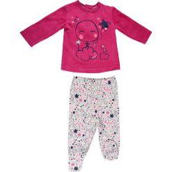 Spodnie niemowlęce: 2-częściowy zestaw w kolorze różowo-białym