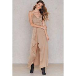 Długie sukienki: Passion Fusion Sukienka Bieliźniana Maxi - Pink