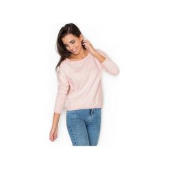 Bluza K235 Róż. Czerwone bluzy rozpinane damskie KATRUS, xl, z bawełny, długie. Za 89,00 zł.