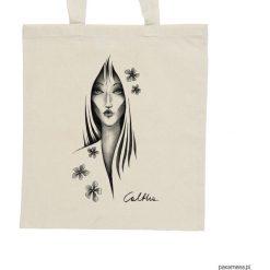 Shopper bag damskie: Kwiaty – torba – 2 kolory