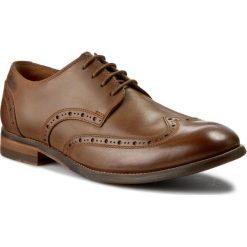 Półbuty CLARKS - Exton Brogue 261177167 Tobacco Leather. Brązowe półbuty skórzane męskie Clarks. W wyprzedaży za 239,00 zł.