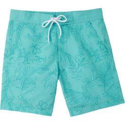 Szorty kąpielowe w hawajskie kwiaty. Zielone kąpielówki męskie La Redoute Collections, w kwiaty, z materiału. Za 96,98 zł.