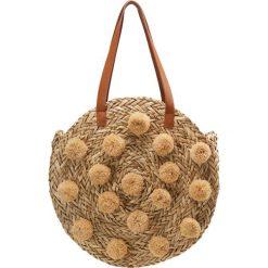 Shopper bag damskie: Whistles POM POM ROUND BAG Torba na zakupy natural
