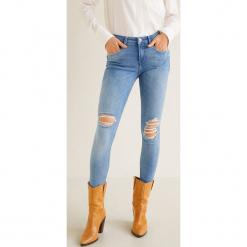 Mango - Jeansy push-up Kimi. Niebieskie jeansy damskie rurki Mango, z bawełny. Za 119,90 zł.