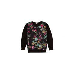 Bluzy rozpinane damskie: Bluza damska ze ściągaczami, nierozpinana w kwiaty cienka