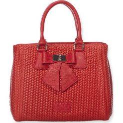 """Torebki klasyczne damskie: Skórzana torebka """"Christie"""" w kolorze czerwonym – 26 x 11 x 22 cm"""
