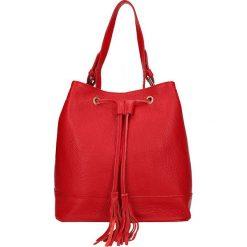 """Torebki klasyczne damskie: Skórzana torebka """"Richelieu"""" w kolorze czerwonym – 26 x 27 x 17,5 cm"""