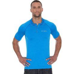 Brubeck Koszulka męska polo Prestige z krótkim rękawem niebieska r. XL (SS10920). Niebieskie koszulki polo marki Brubeck, m, z krótkim rękawem. Za 105,55 zł.