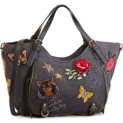 Torebka DESIGUAL - 18WAXF19 2000. Brązowe torebki klasyczne damskie marki Desigual, w paski, z materiału. W wyprzedaży za 289,00 zł.