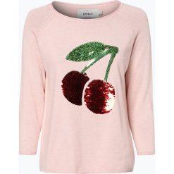 ONLY - Sweter damski – Marley, czerwony. Czerwone swetry klasyczne damskie ONLY, m. Za 69,95 zł.