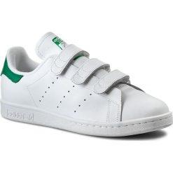 Buty do tenisa męskie: Buty adidas - Stan Smith CF S75187 Ftwwht/Ftwwht/Green