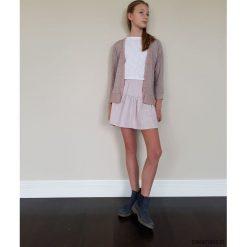 Swetry dziewczęce: TESS FRILL kardigan dla dziewczynki pudrowy róż
