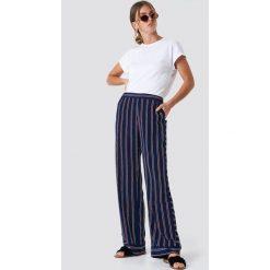 Paski damskie: Rut&Circle Spodnie w paski Vega – Blue