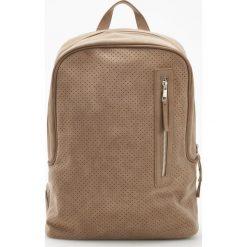 Plecaki męskie: Plecak z eko zamszu - Żółty