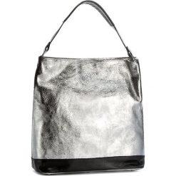 Torebka CREOLE - RBI10161  Srebrny 2/Czarny. Szare torebki klasyczne damskie Creole, ze skóry, duże. W wyprzedaży za 249,00 zł.